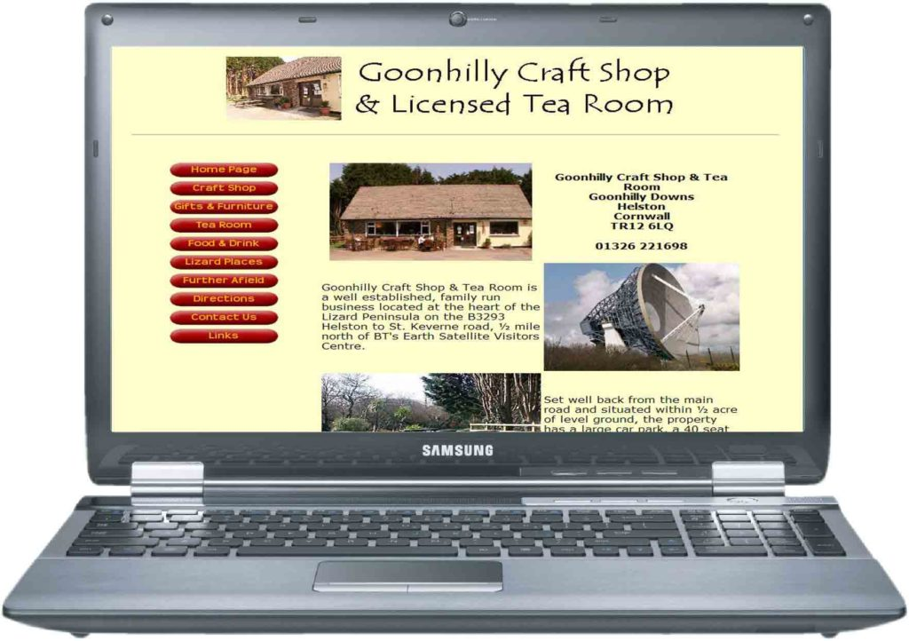 goonhilly craft shop and tea rooms website